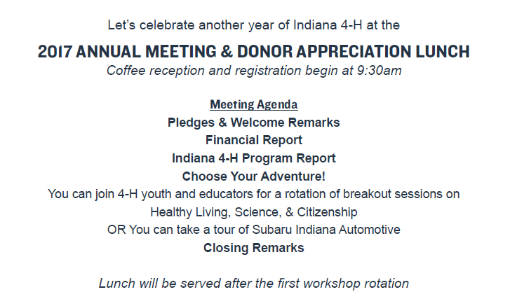 2017 Annual Meeting & Donor Appreciation Lunch