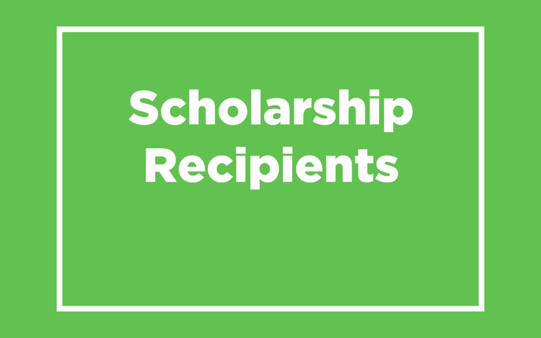 2018 Accomplishment Scholarship Recipients