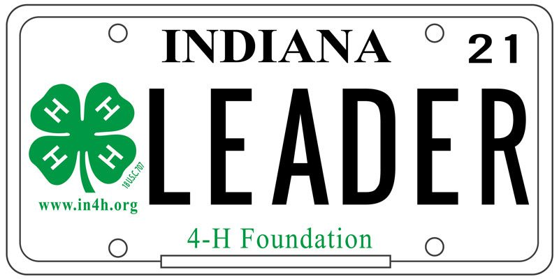 Indiana 4‑H specialty license plate